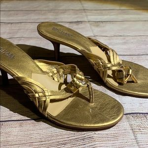 MICHAEL Michael Kors Shoes - Michael Michael Kors Heeled Thong Sandals Size 10